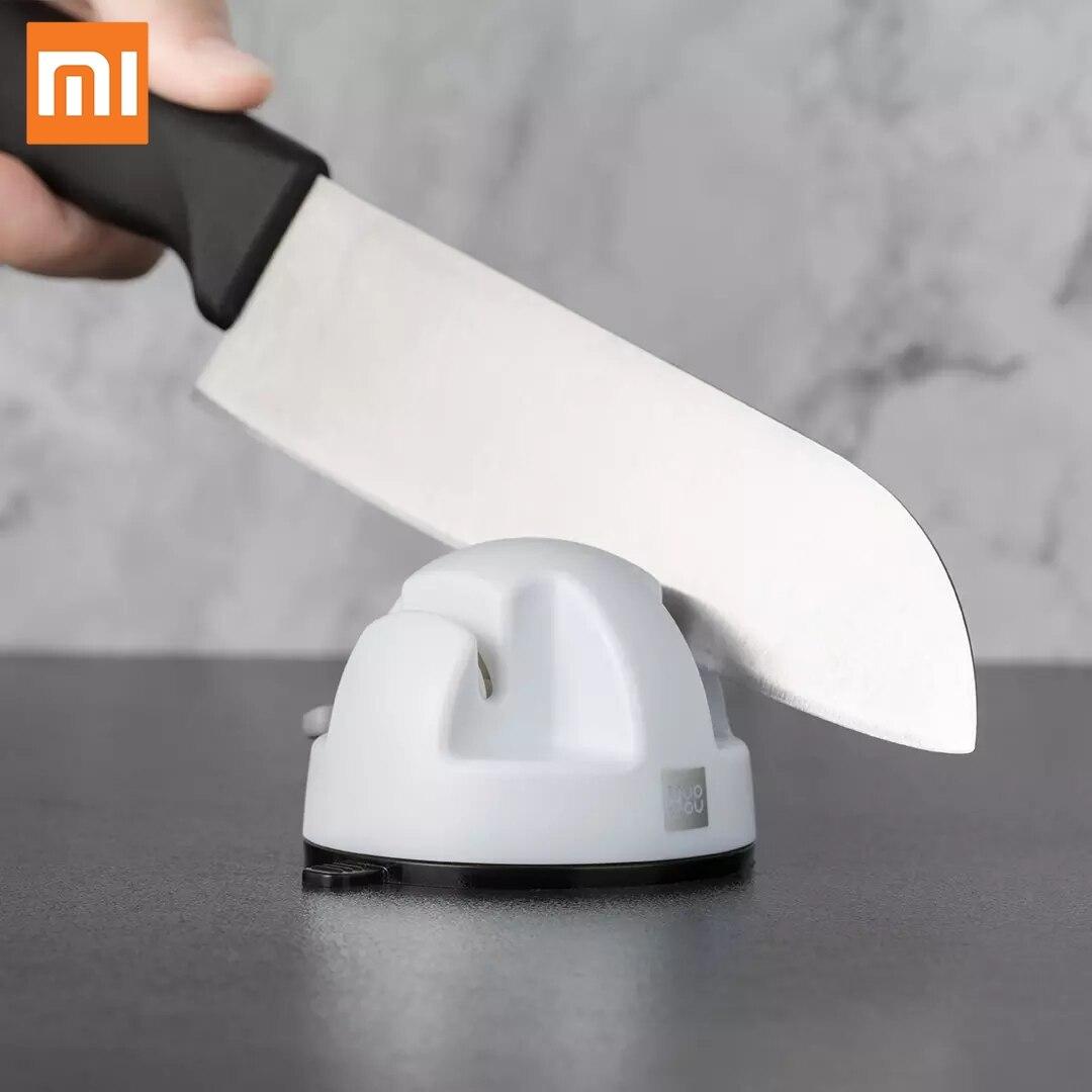 Moedor de Pedra Ferramentas para Cozinha Xiaomi Mini Roda Dupla Faca Sharpener Mode Afiar Sucção Pvc