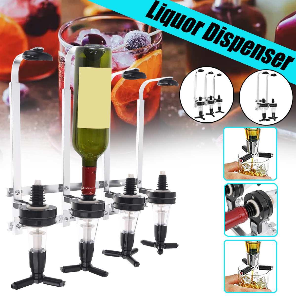 4/3/2 Bottles 30ml Bar Tool Buffet Pourer Liquor Whiskey Cocktail Dispenser Drinks Wine beer Rack Bar Wall-mounted Wine Shaker