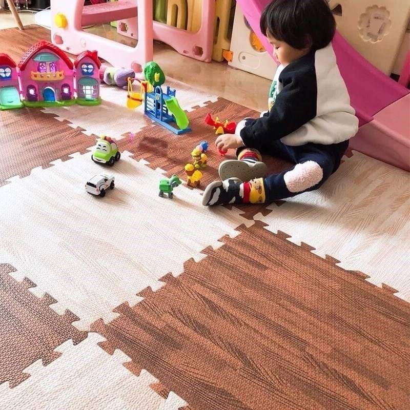 Детский коврик-пазл с текстурой древесины, игровой коврик, детские коврики для упражнений, коврики, напольные плитки, игрушечный коврик, мяг...