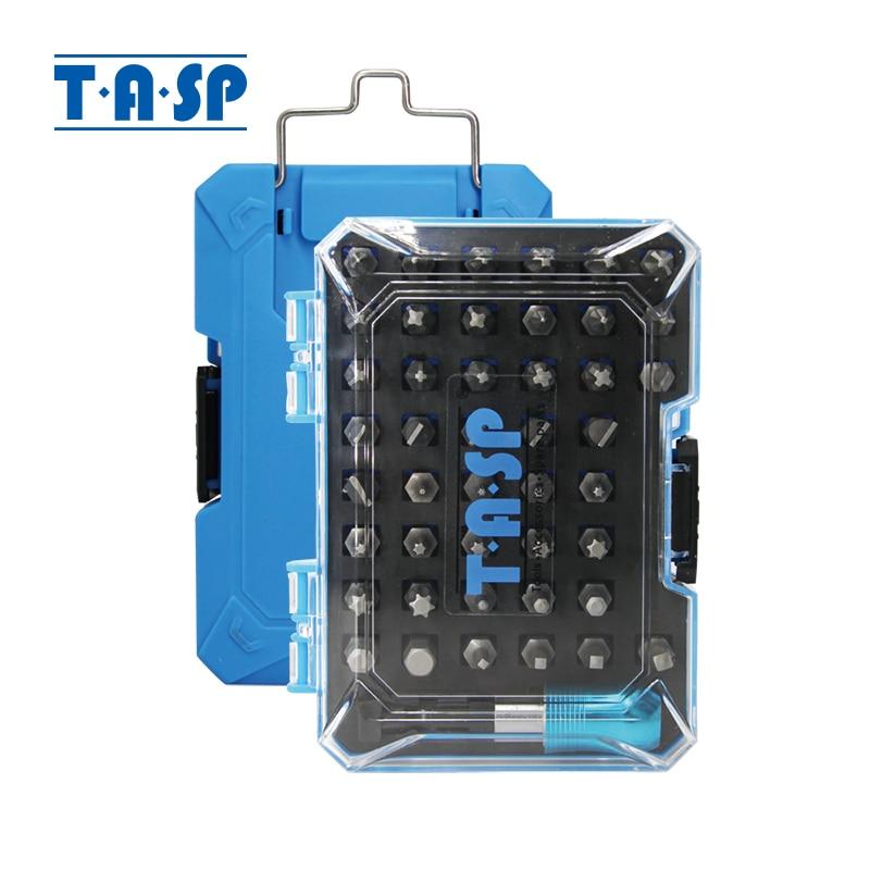TASP 45 in 1 Screwdriver Bit Set 44pcs Various Types PH Pozi Torx Slotted Hex Bits & 1 Universal Magnetic Holder in Storage Box