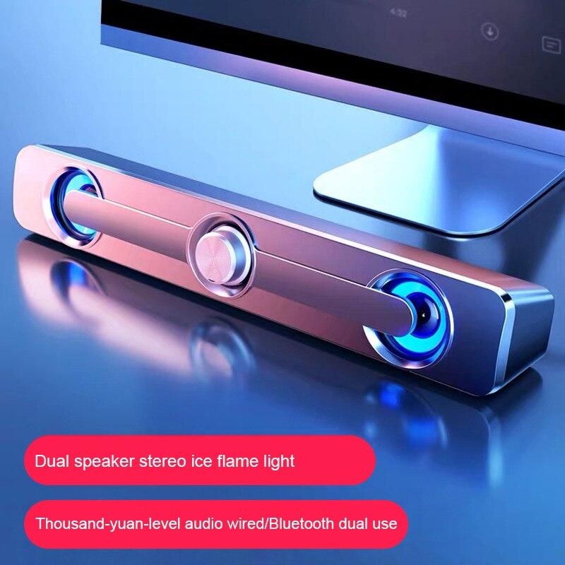 V-111 домашний активный маленький динамик для компьютера, звуковой эффект, двойной динамик, музыкальный динамик, игровой динамик 9D