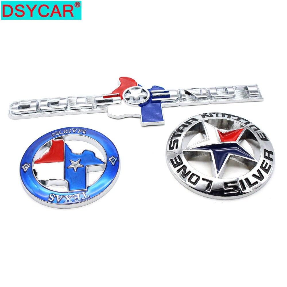 DSYCAR  1Pcs Car Styling Metal Cars Emblem LONE STAR/TEXAS MASON/LONE STAR EDITON Sticker Badge Logos Decal Fits Most Cars New