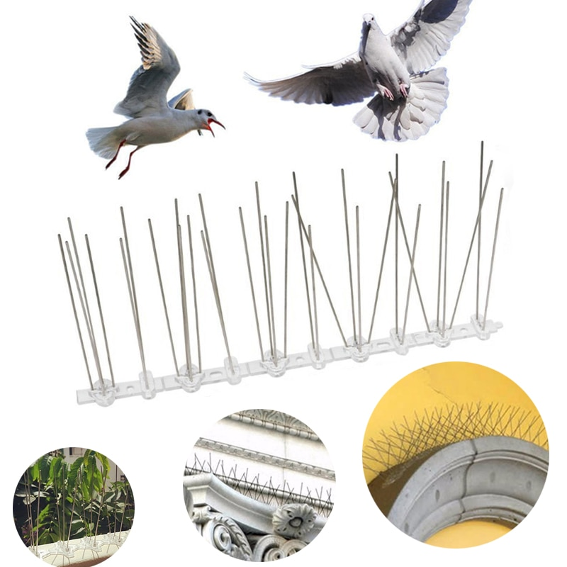 Hot Selling Plastic Bird and Pigeon Spikes Anti Bird Anti Pigeon Spike Scare Birds Pest Control Bird Repellent Garden Supply
