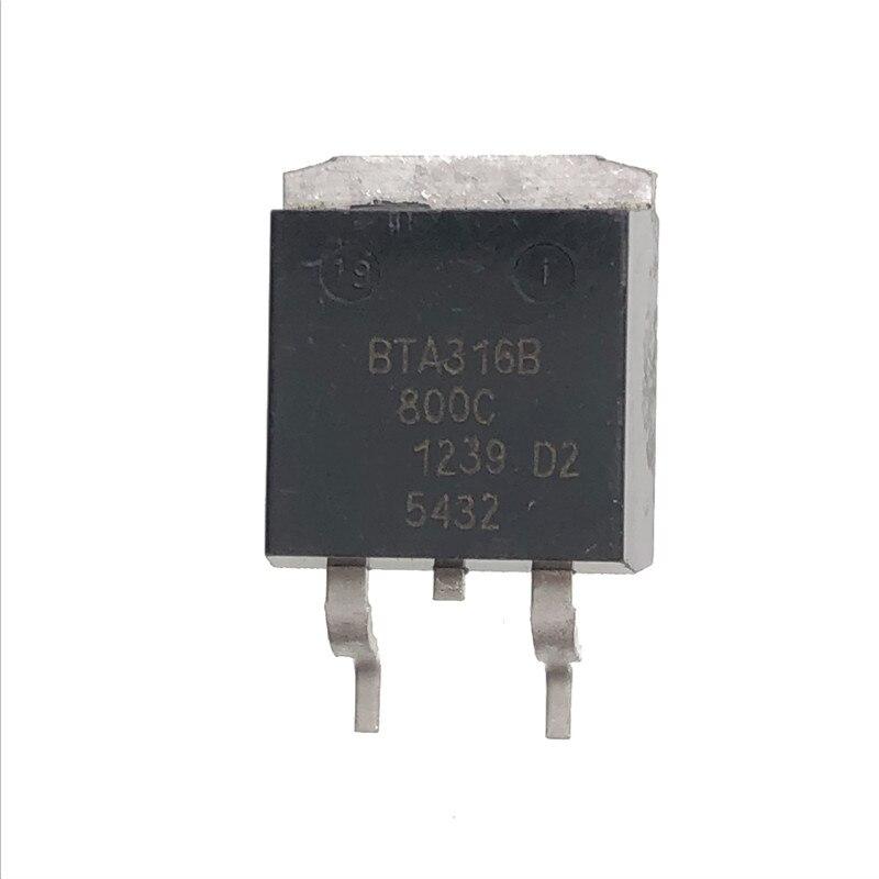 10 UDS-20 piezas Uds BTA316B-800C SOT-263 BTA316B SOT263 A316B bidireccional tiristor nuevo y original
