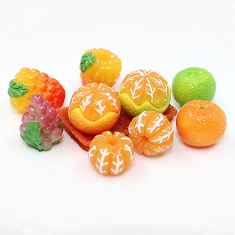 10 шт. кукольный домик мебель миниатюрная пища виноград Friut оранжевые Клубничные яйца Куклы Аксессуары для Барби DIY игры Детские игрушки