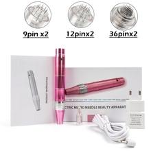 Электрическая Дерма-ручка, Беспроводная Машинка для ухода за кожей, устройство для татуировки, микроблейдинга, Дерма, иглы для татуировки, пистолет Dr, мезотерапия, макияж для лица