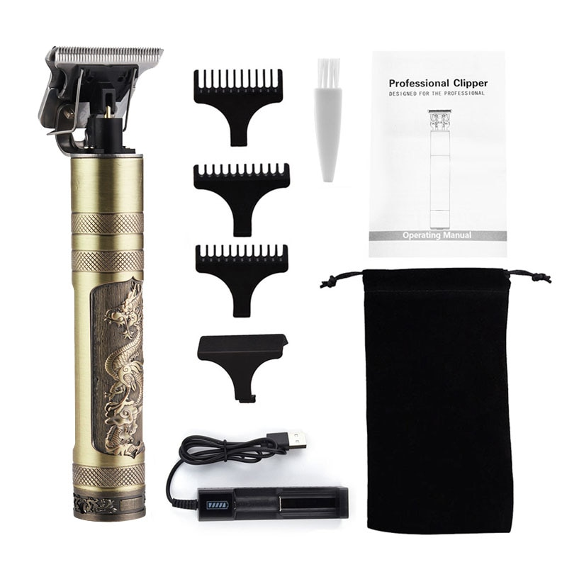 Rechargeable Hair Clipper Barber Hair Trimmer Rechargeable Electric Clippers Barbershop Cordless T-blade Baldheaded Outliner Men enlarge
