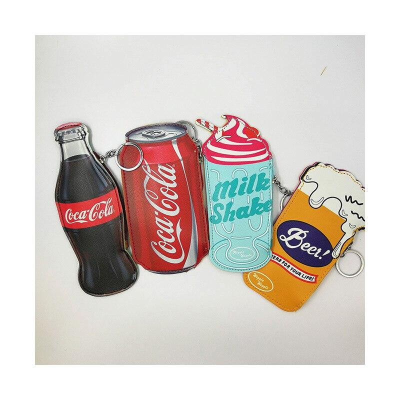 Llavero con forma de cerveza y bebida de Cola, llavero para bolso...