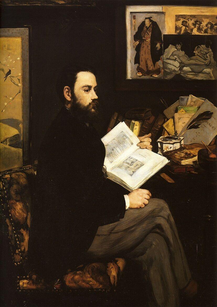 Edouard Manet: Retrato de Emile Zola pinturas al óleo lienzo arte impresa...