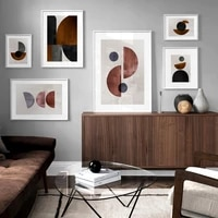 minimalist brush abstract geometry nordic posters and prints wall art canvas painting wall pictures for living room home decor