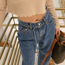 Autumn/winter 2021 New High Waist Slim Jeans Women's Belt Straight Tube Loose and Versatile Casual C