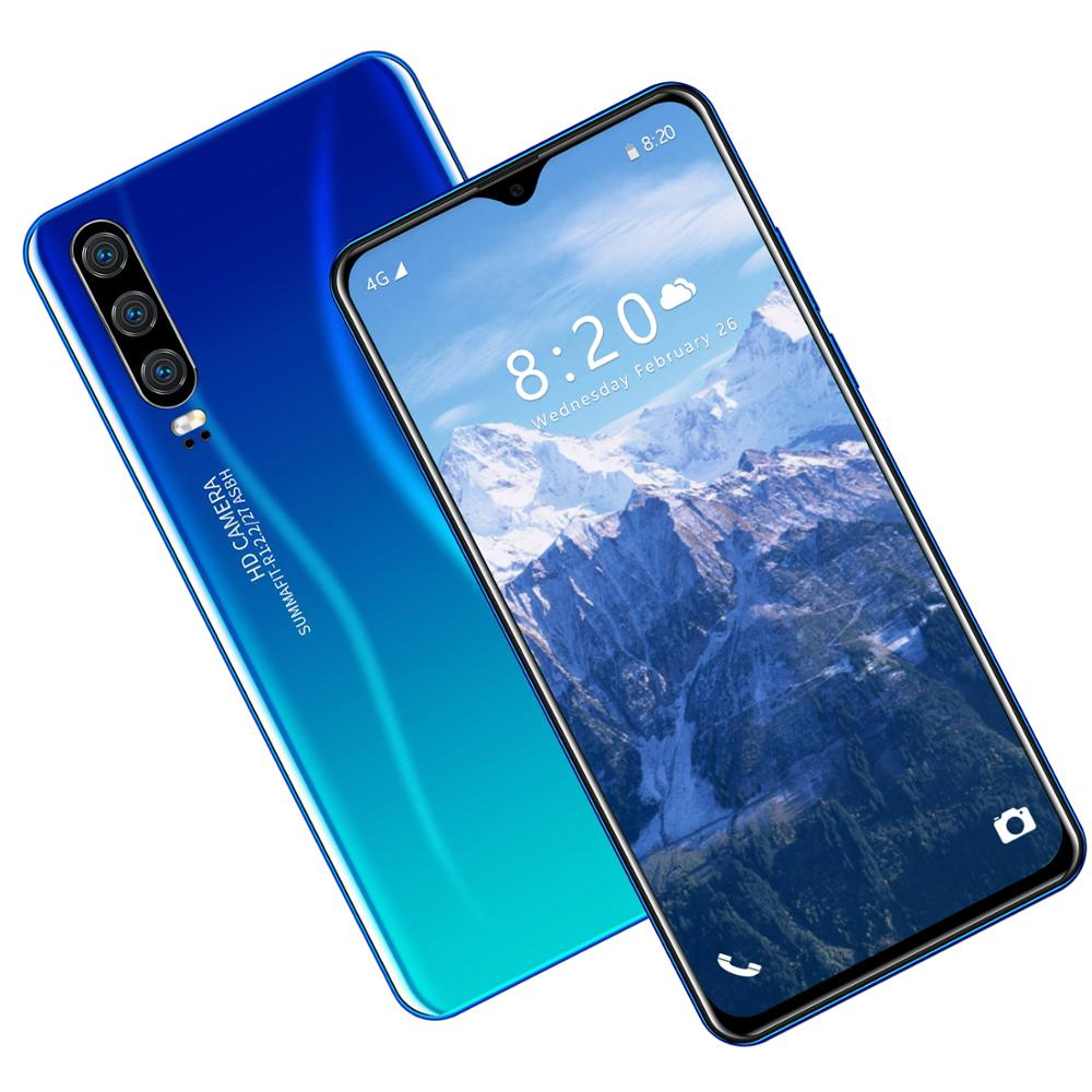 2020 P39 Pro 5G هاتف ذكي جديد MediaTek 8MP + 16MP 8 128G 6.3-inch 4800mAh NFC WiFi شاشة بمصابيح LED عالية الجودة ثلاثة كاميرا هاتف ذكي