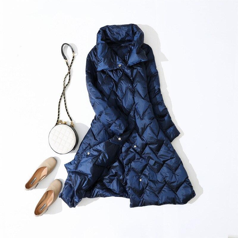 Chaqueta de plumón de pato blanco chaqueta de plumón Ultra ligera de otoño invierno abrigo de mujer chaqueta globo Parka cálida Casaco YY11406
