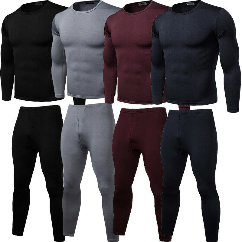 Men Thermal Underwear set Male Thermo Clothes Long Johns Sets Thermal Tights Winter Long Compression