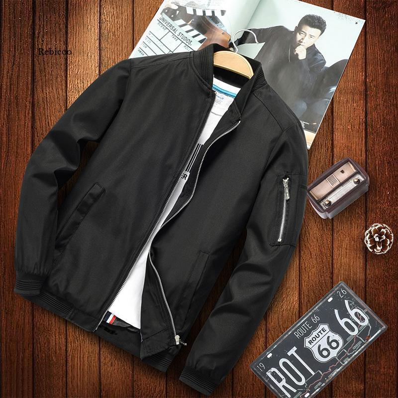 Бомбер мужской на молнии, Повседневная Уличная одежда, приталенный силуэт, пилот в стиле хип-хоп, модель 6Xl, весна