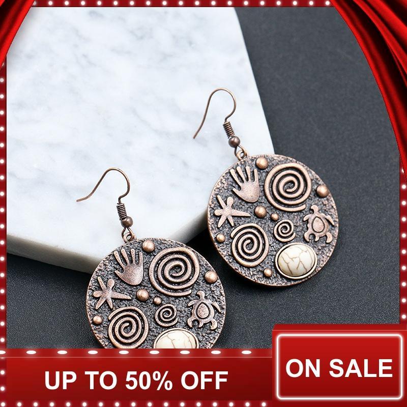 Statement Earrings for Women Drop Round Dangle Earrings Ethnic Ear Rings Palm Earrings Brincos Accessories 2019 Fashion Jewelry