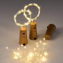 В комплекте аккумуляторы 10 шт. 1 м 2 м светодиодные гирлянды лампы пробка для бутылки вина с подсветкой пробковая форма для вечерние украшения свадьбы
