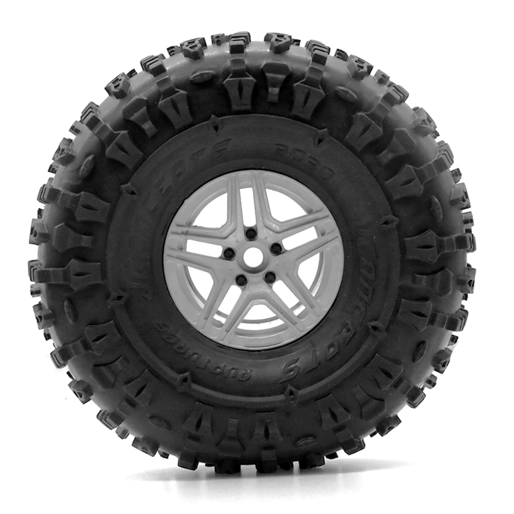 4Pcs 2.2 Inch Beadlock Wheel Rim& Wheel Tires for 1/10 RC Crawler Axial SCX10 RR10 90053 AX10 Wraith 90056 90045 enlarge