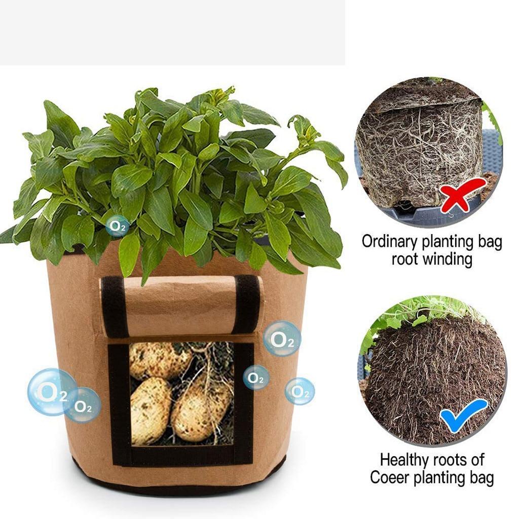 Bolsa para plantar patatas, bolsa para plantar verduras DIY, trapo PE para plantar verduras, bolsa para plantar en macetas 20MAR16