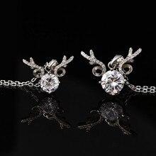 Geweih Anhänger Natürliche Moissanite 925 Sterling Silber Halskette Kette Anhänger Weibliche 1ct 2ct Carat D Farbe mit Zertifikat