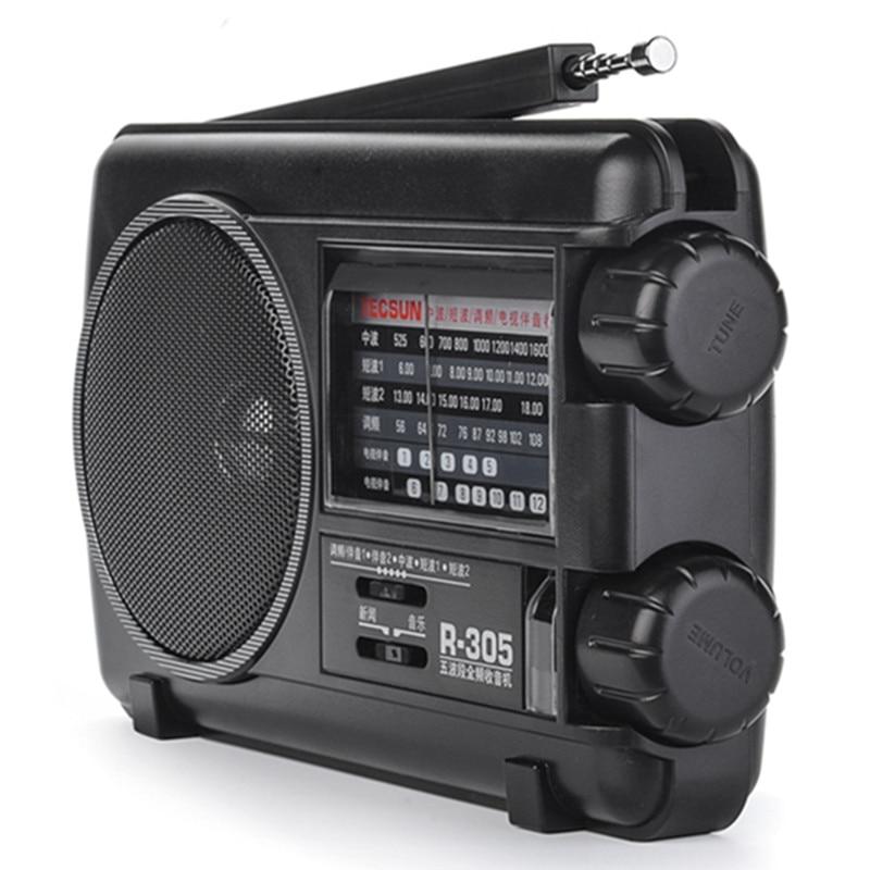 راديو FM محمول متعدد النطاقات ، مكبر صوت ، محمول ، موجات قصيرة ، مؤشر كامل ، بث قديم ، بوق أشباه الموصلات MW AC DC