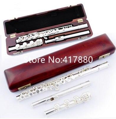 Producto en oferta, marca MARGEWATE, flauta de plata de 17 Agujero Abierto, instrumento Musical afinador C E key profesional con funda, envío gratis