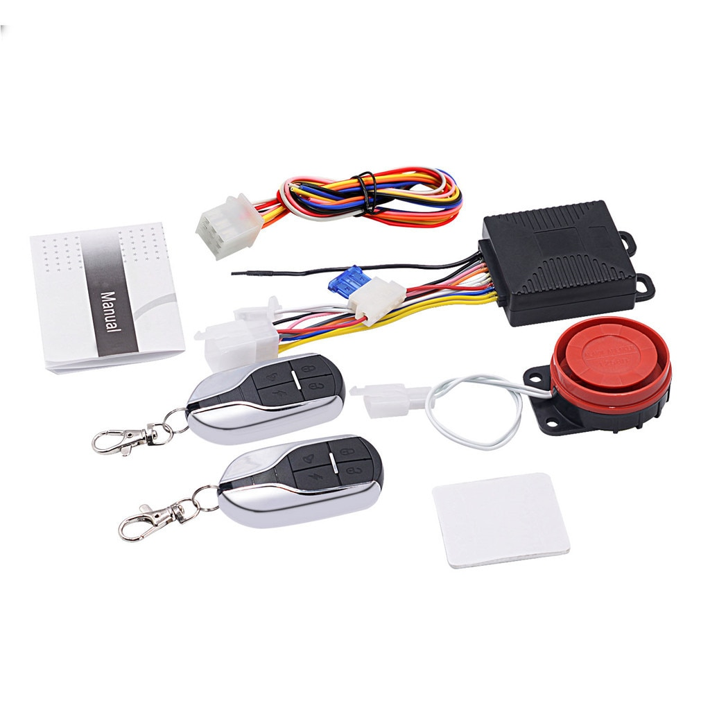 12V Motorcycle Scooter Car Security Alarm System Anti-theft Remote Engine Start Automatic remote sta