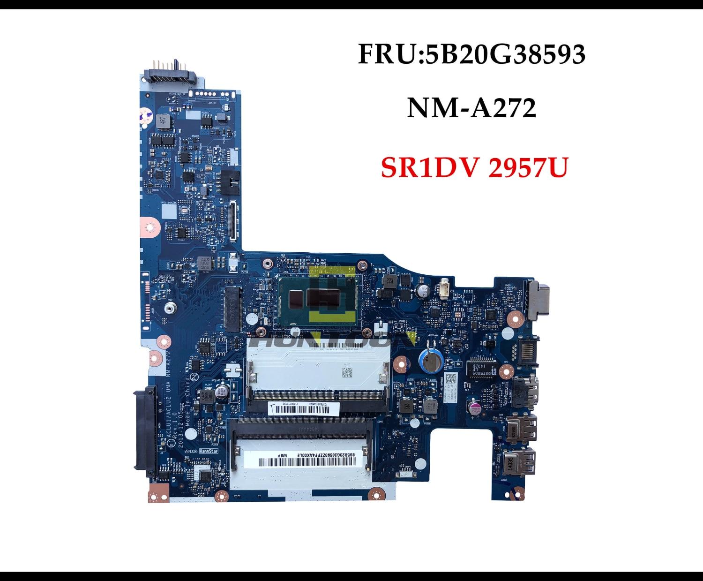 NM-A272 высокого качества ACLU1/ACLU2 UMA для lenovo G50-70 Z50-70 Материнская плата ноутбука 5B20G38593 SR1DV 2957U DDR3L полностью протестирована