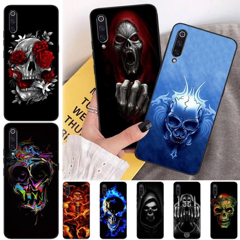 Wumeiyuan Grim Reaper Skull Skeleton DIY Printing Phone Case cover Shell For Xiaomi mi 6 6plus a2 8 8se a2lite 8lite 9 9se mix2