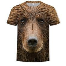 Summer Men T -Shirts 3d Print Animal Monkey Tshirt Short Sleeve Funny Pot -Bellied Monkey Design Cas