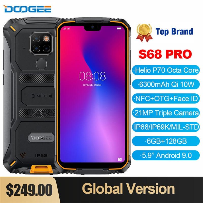 Перейти на Алиэкспресс и купить Смартфон DOOGEE S68 Pro защищенный, IP68, 6 + 128 ГБ, NFC, 6300 мА ч, 12 В, 2 А, 5,9 дюйма