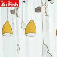 high grade towel embroidered yellow chandelier window curtain tulle for living room korean simple sheer children bedroom my124 5