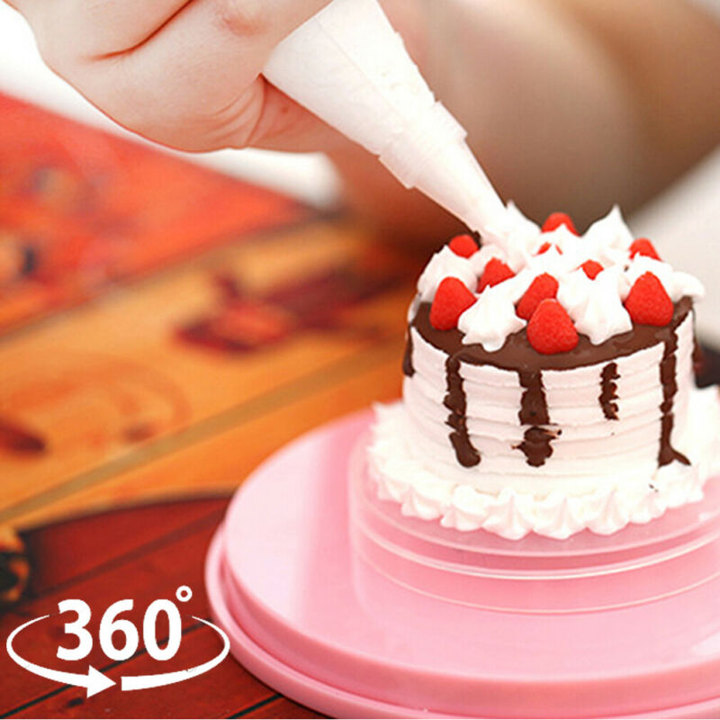 1 Pza 14cm DIY giratoria de la torta giratoria de decoración de la torta soporte de la plataforma de la torta galletas herramientas de decoración