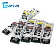 Alimentation pour bande LED Ultra mince DC12V 5A 8A transformateur électronique 60W 100W 150W 200W 300W 400W W 12V LED adaptateur dalimentation pour conducteur