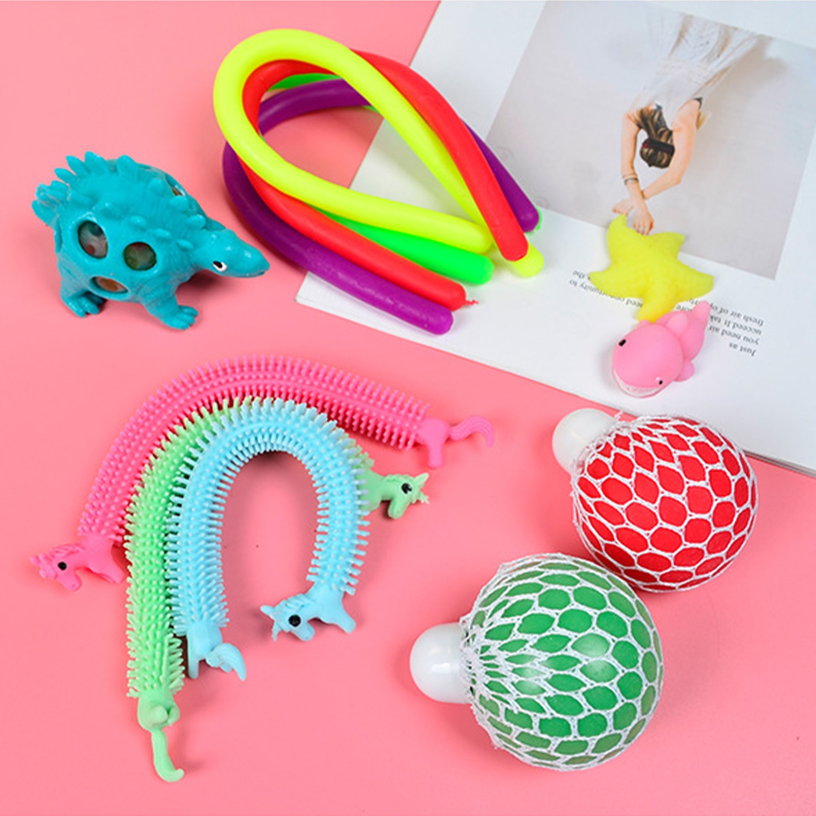 22 IN 1 Portable Fidget Sensory Toys Set Lightweight Pressure Relief Flexibility Elasticity Toy Ball for Children's Kids Adults enlarge