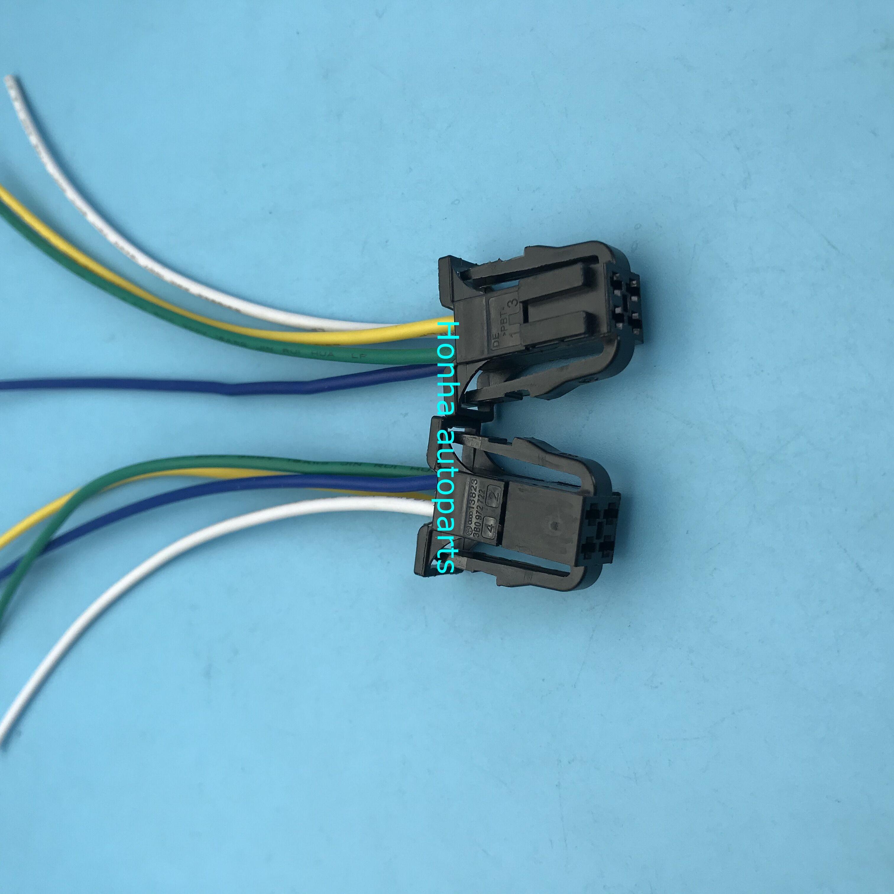 2/5/10/20 Uds. Conector de coche de 4 pines hembra 3B0972722 luz trasera asiento Indicador de calefacción airbag indicador de la manija del enchufe de la luz