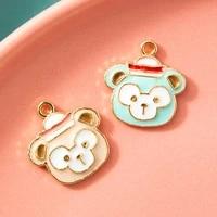 10pcs enamel gold color monkey cups charm pendant for jewerly diy making bracelet women necklace earrings accessories findings