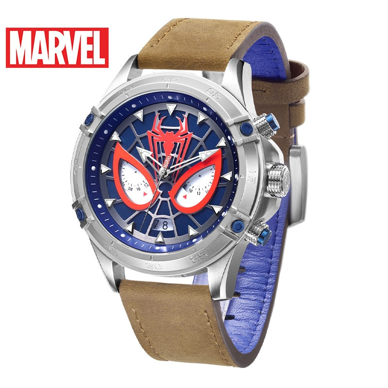 Disney Marvel Fashion Casual Multifunctional Belt Men's Watch Men's Watch Spiderman Waterproof Quartz Watch