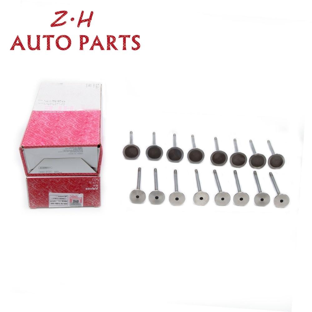 Nuevo 16 Uds de admisión del motor y las válvulas de escape de 06D 109 611 H para VW Passat Tiguan Sharan Audi A3 A4 Quattro Q5 2,0 T 06D 109 de 601 M