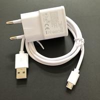 Зарядное устройство для Galaxy S3 S4 S6 S7 Edge Note 4 5 J2 J3 J5 J7 2016 2017 дорожный адаптер ЕС США 1 м USB-кабель для зарядки Xiaomi