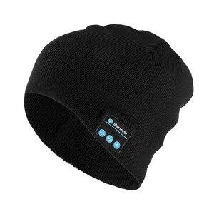 Bluetooth Music Headset Beanie Built-in Stereo Speaker Knitted Hat for Men Women Running Cap Outdoor Sports TT@88