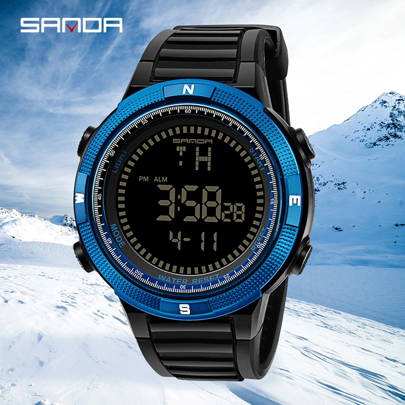 SANDA Luxury Brand Digitial Sports Water Resistant Men Wrist Watches Multifunctional Electronic Clock for Gift Relogio Masculino enlarge