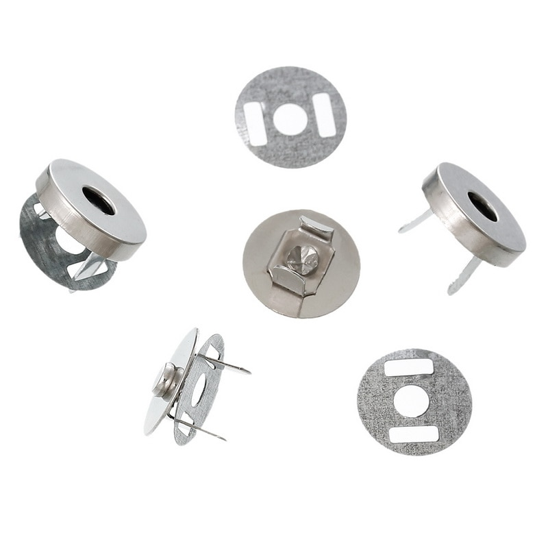 osmond alloy tone turn locks snap clasps closure buckle for bags accessories diy handbags purse alloy button replacement lock 5 Sets Silver Tone Round Magnetic Purse Snap Clasps Closure DIY Messager Handbag Clutch Buckles 14mm Crafts Making Accessories