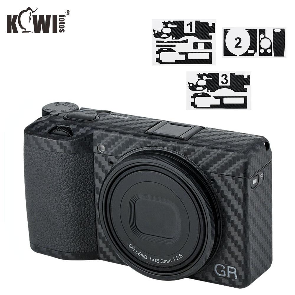Anti-Scratch Camera Body Cover 3M Sticker Protector for Ricoh GR III GR3 GR Mark III GRIII Anti-Slide Carbon Fiber Film Skin