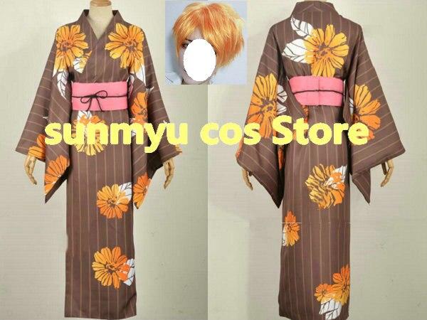 Customize,Free Shipping! A3! Act!Addict!Actors! Summer Troupe TENMA SUMERAGI  Kimono Cosplay Costume,Custom Size Halloween