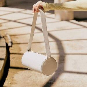 Simple Female Cylinder Bag Retro Ladies Half-Moon Bag PU Leather Soft Women Shoulder Bag Niche Design Handbag Trend CrossbodyBag