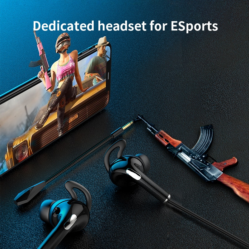 AKP9 3.5mm Wired Gaming Headphones Headset, With Dual Mic In-Ear Earphones For Xiaomi Huawei Phone PC PUBG Game enlarge