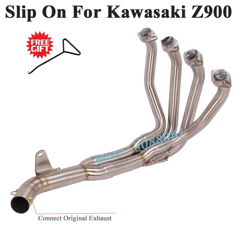 Full System Motorcycle Exhaust Escape For Kawasaki Z900 2017 - 2020 Ninja 900 Modify Connect Front Mid Link Pipe Without Muffler