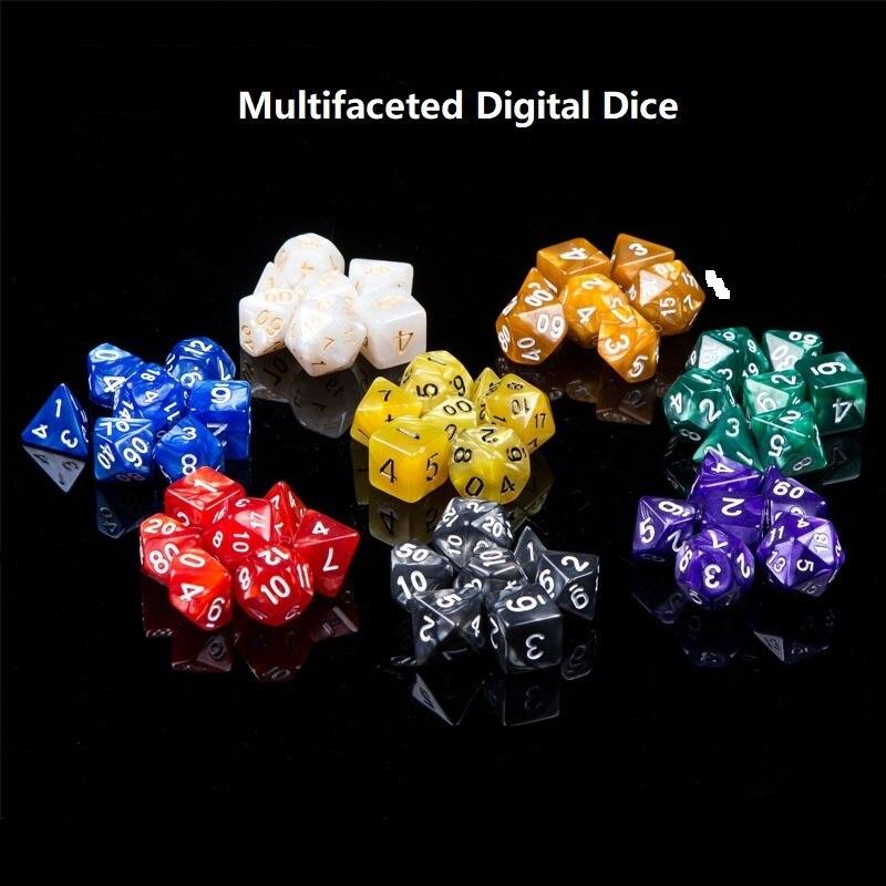 Juego de 7 Uds. Multifacetados Dnd de dados, dados dadi, cubos de juego D4 D6 D8 D10 D20 rpg, dados, rol, dobbelstenen