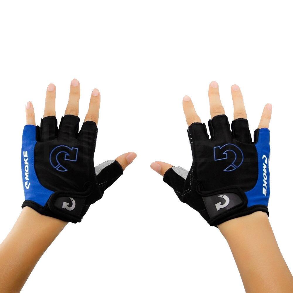 Guantes deportivos para ciclismo, ciclismo, motocicleta, bicicleta, Gel, medio dedo, S M L XL, guantes para ciclismo, guantes para correr